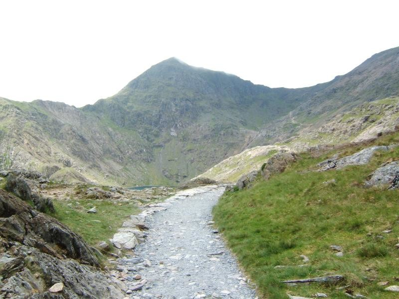 12:16pm Snowdon from the Pyg Track 11.6.06
