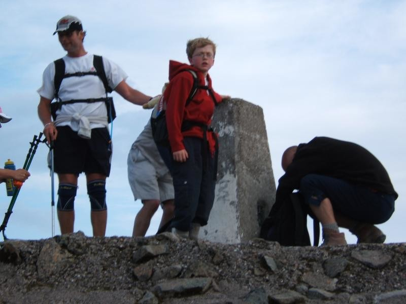 7:39pm The summit of Ben Nevis 10.6.06