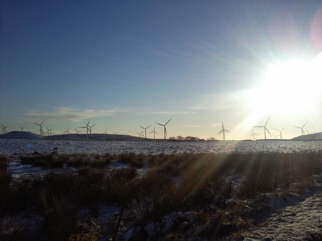 WInd Farms in Winter