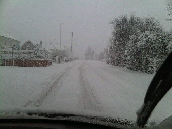 Driving on Side Roads in Whitstable, Kent 18 Dec 2010