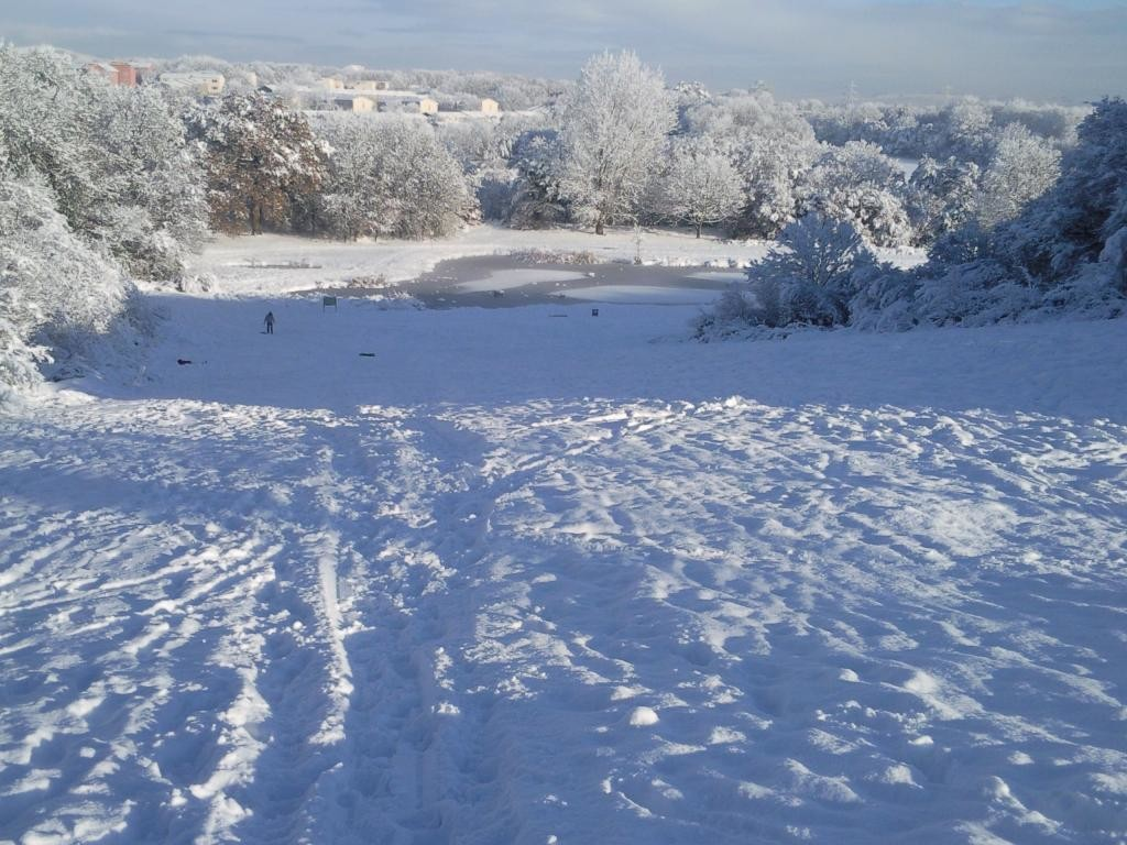 The sledging hill