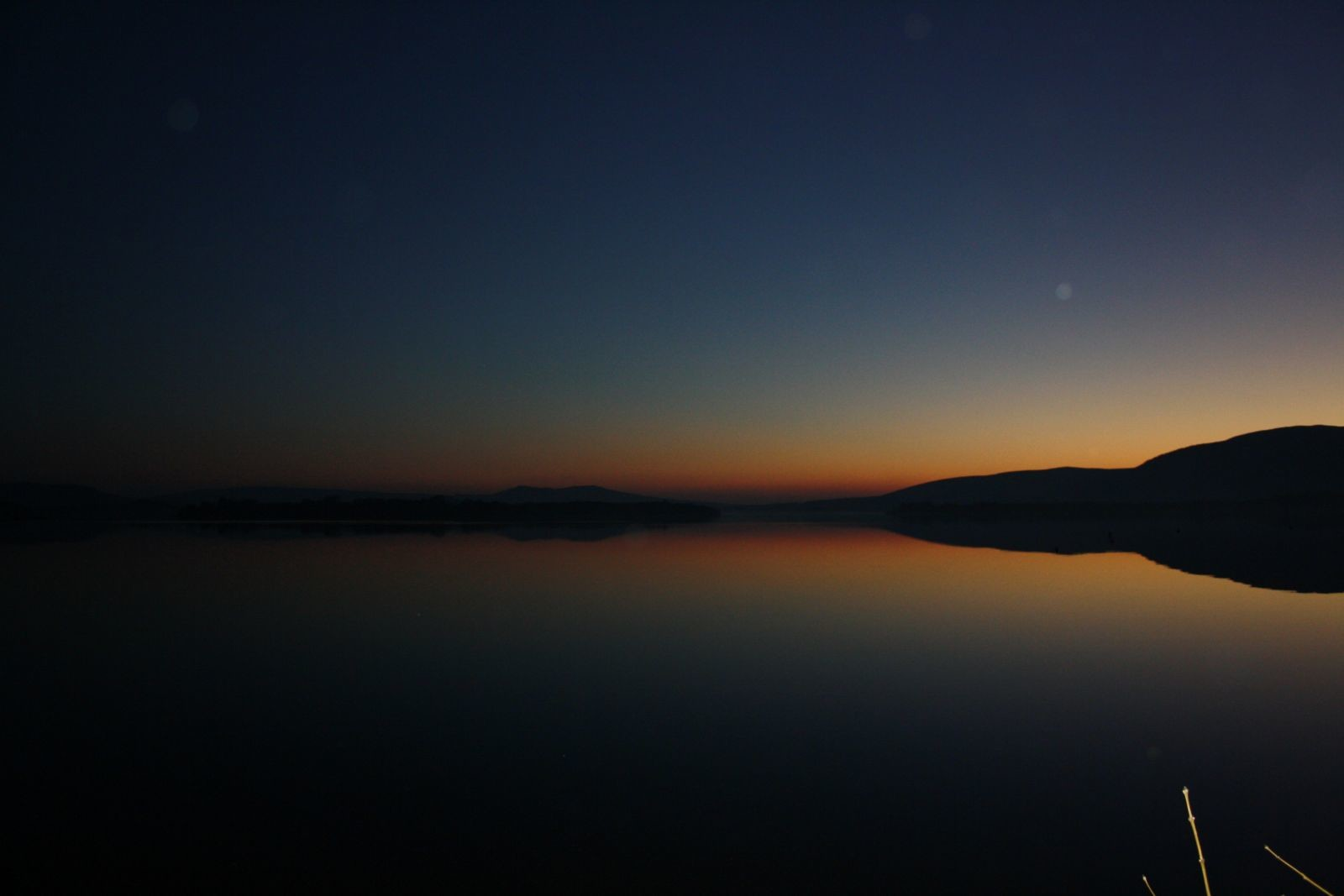 SW across the loch at dusk