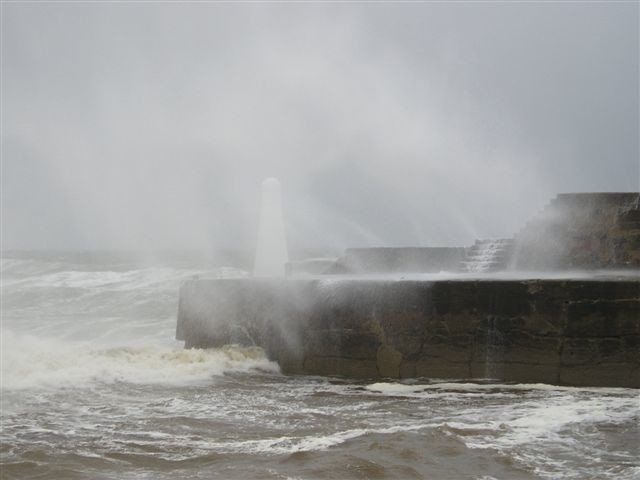 Stormy Sea at Cullen harbour