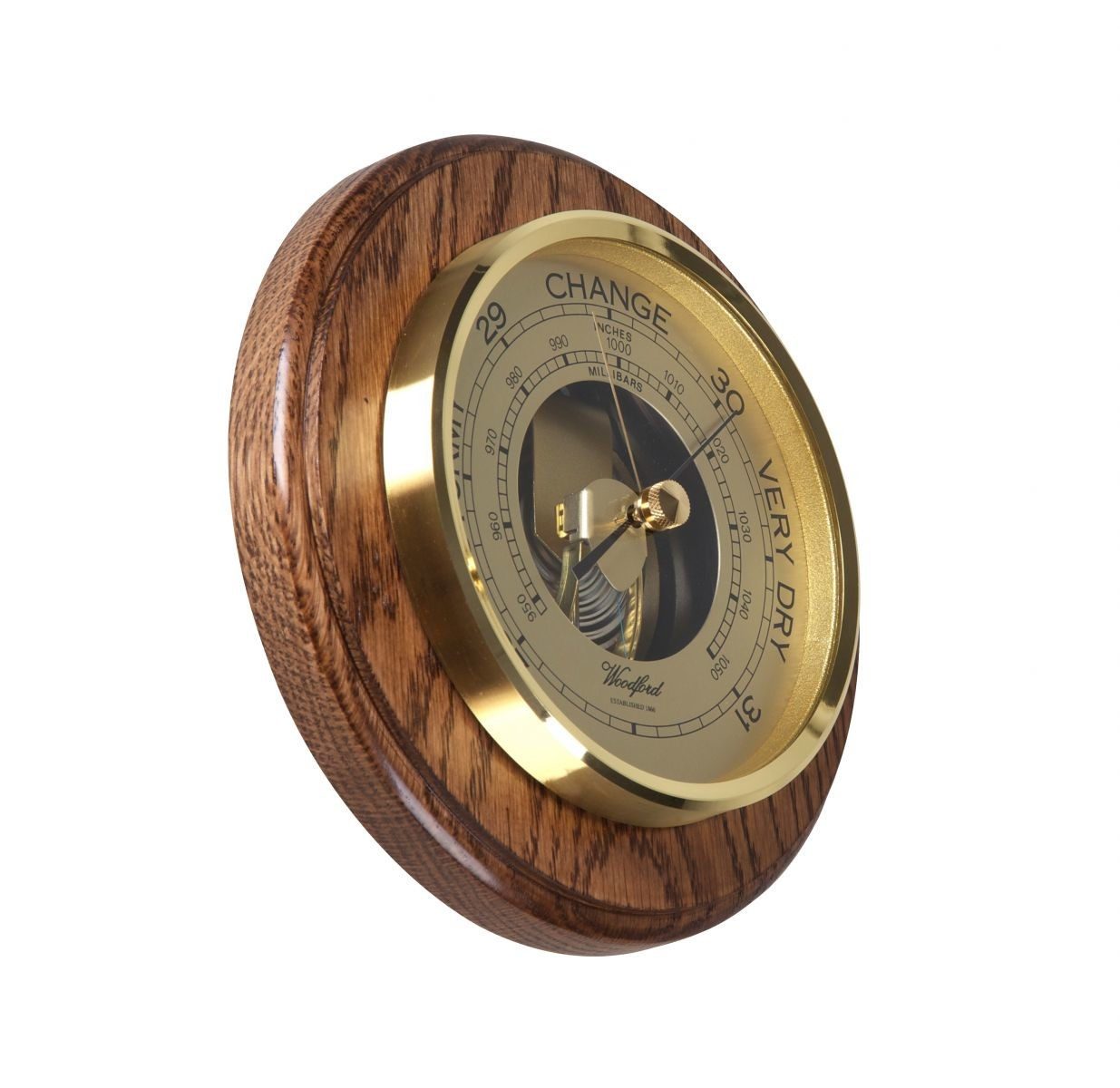 1622 Oak Wood Barometer