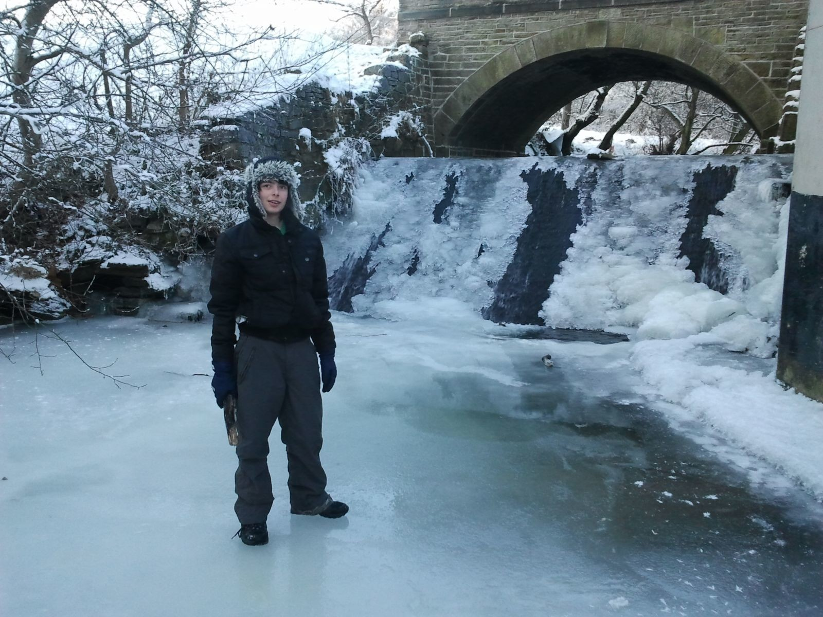 Frozen river/waterfall