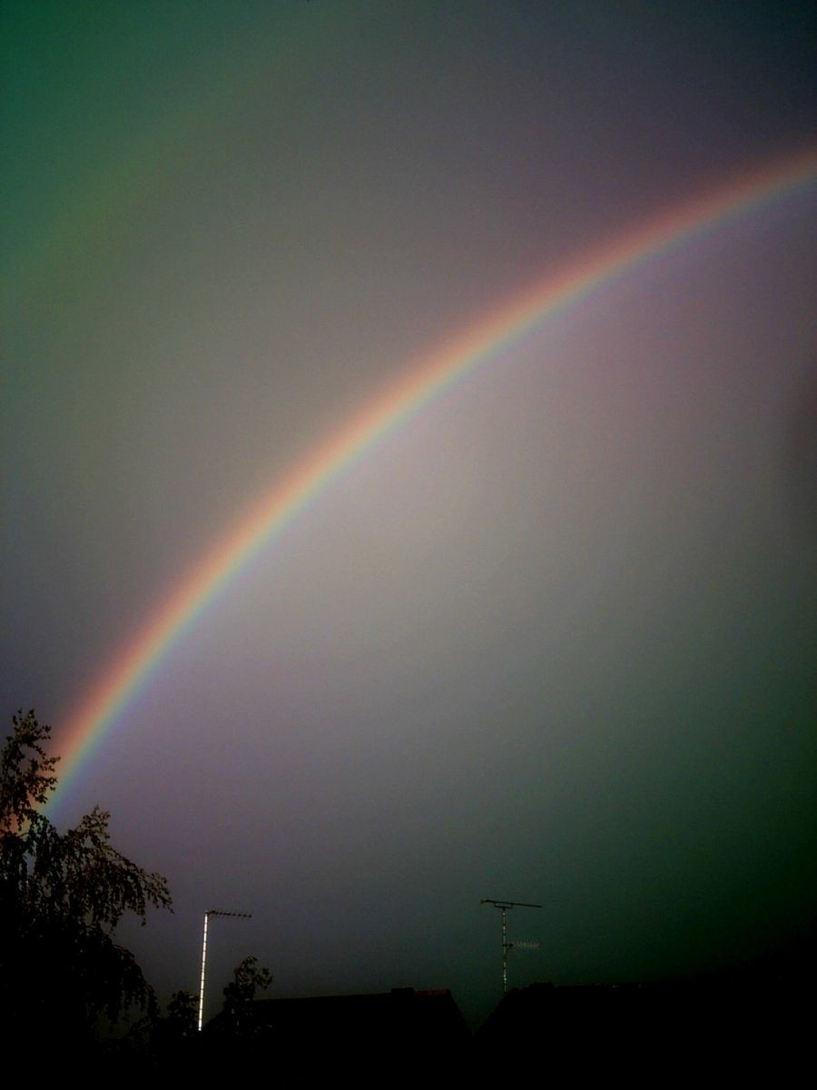 Rainbow over Luton 14/05/2011..