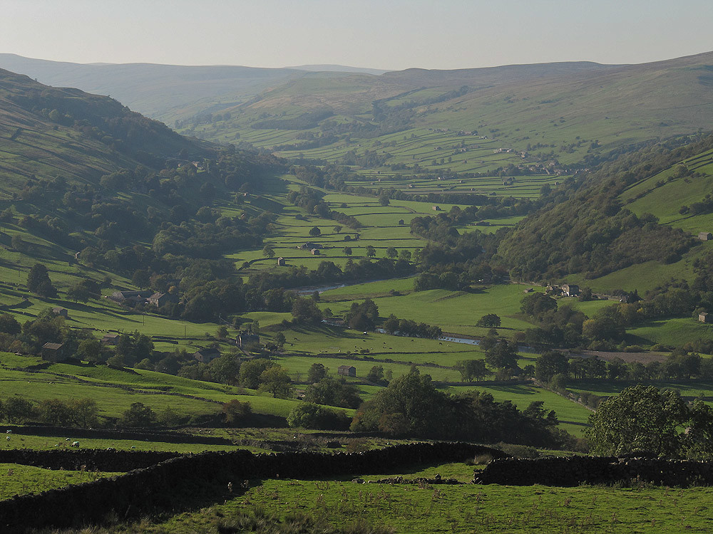 Looking over Upper Swaledale from near Crackpot
