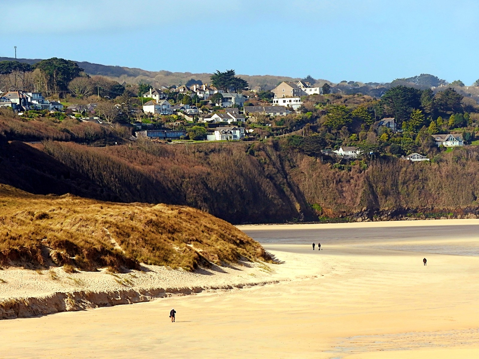 Looking across the River Hayle and Porth kidney Sands towards Carbis Bay yesterday