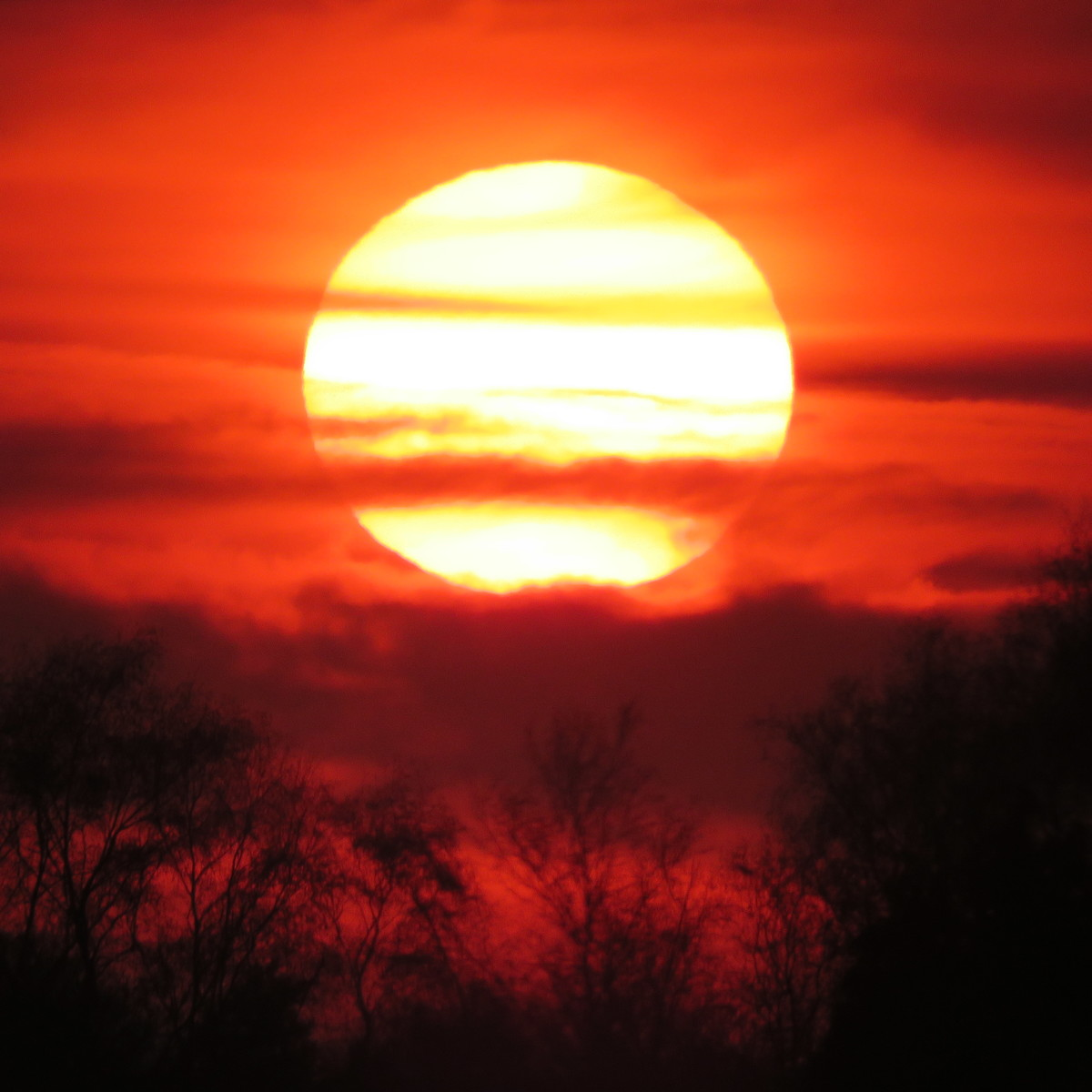 Sunset of 6th April 2019 from Irlam, UK