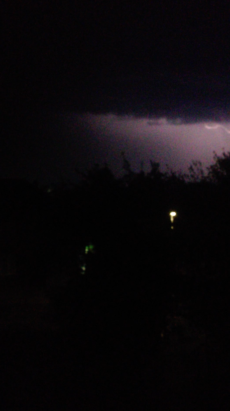 My second-ever shot of a bolt of lightning